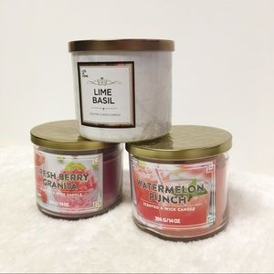 Candle Bundle Three-Wick Home Decor Summer Gifts